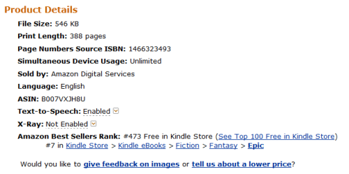 The Betrayed in spot #7 in Epic Fantasy category on Amazon.com