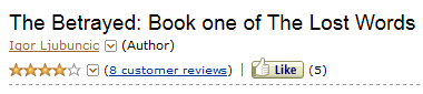 The Betrayed starred rating from Amazon teaser