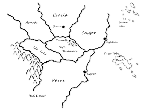 The Betrayed world map